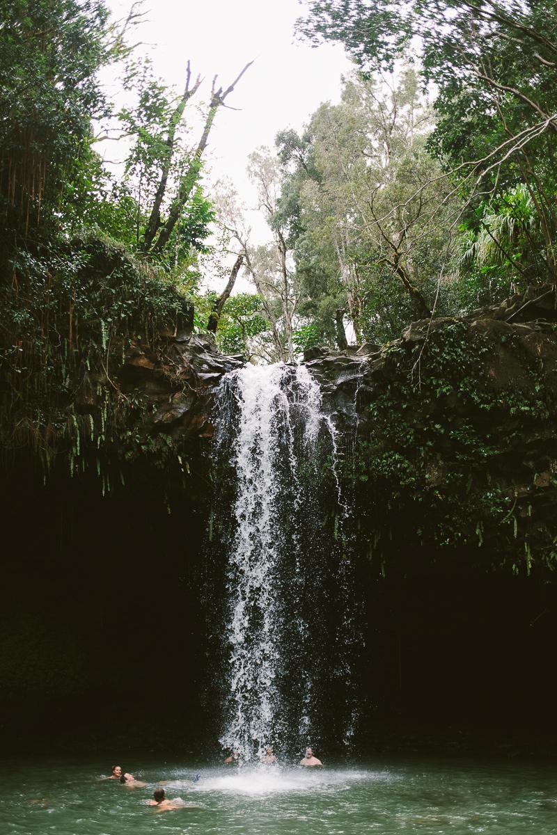 Twin Falls In Maui, Hawaii
